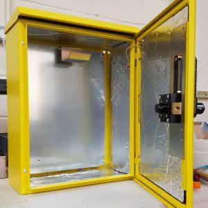 Insulated Locked Defibrillator Cabinet