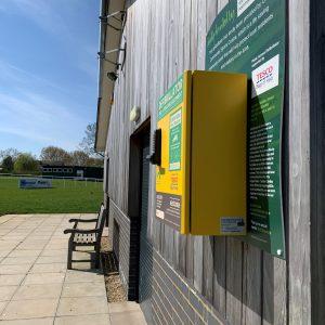 Accessible defibrillator cabinet